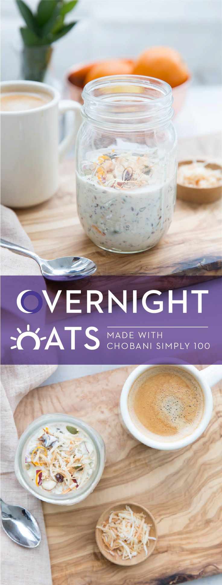For a delicious and healthy breakfast, try Chobani's Easy Overnight Oats. First, heat milk and honey over medium heat until just below a simmer. Pour over oats and refrigerate until cold. Then, combine the rest of the ingredients into oats and mix well to combine. Refrigerate until chilled, serve and enjoy! Discover this delicious recipe and many more with Chobani Simply 100 Greek Yogurt.