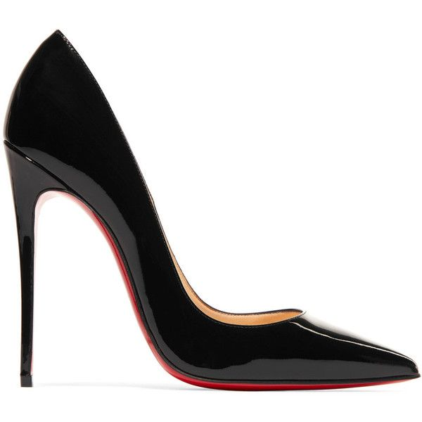 Christian Louboutin So Kate 120 patent-leather pumps (166.970 HUF) ❤ liked on Polyvore featuring shoes, pumps, heels, zapatos, black, high heel shoes, stiletto pumps, heels stilettos, black pumps and black stiletto pumps