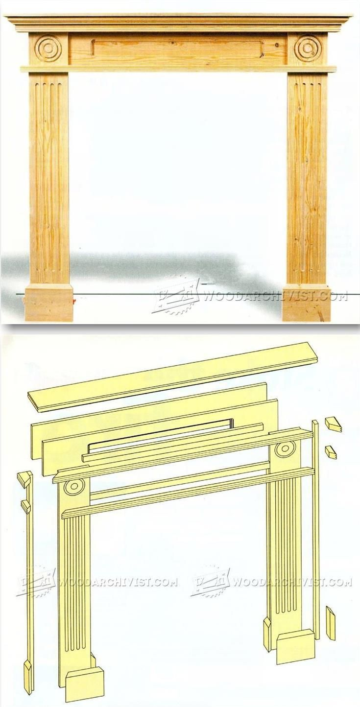 Fireplace Surround Plans - Woodworking Plans and Projects | WoodArchivist.com