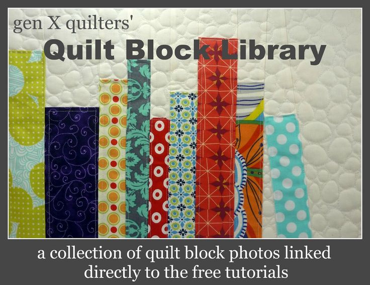 Quilt Block Library  All photos link directly to the tutorial!  Lots! This is great.  Pin it and check it out.  It leads to lots and lots of different sites.