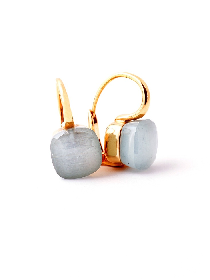 Grey And Gold Living Room Decor: Pomellato Nudo Milky Aquamarine Earrings At London