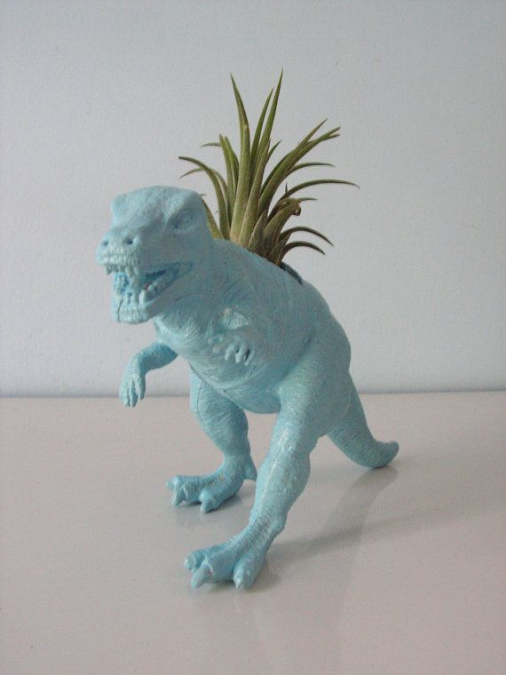 Neon Spray Paint For Plastic Part - 42: Upcycled Dinosaur Planter - Blue Tyrannosaurus Rex With Tillandsia Air  Plant On Etsy, $17.95
