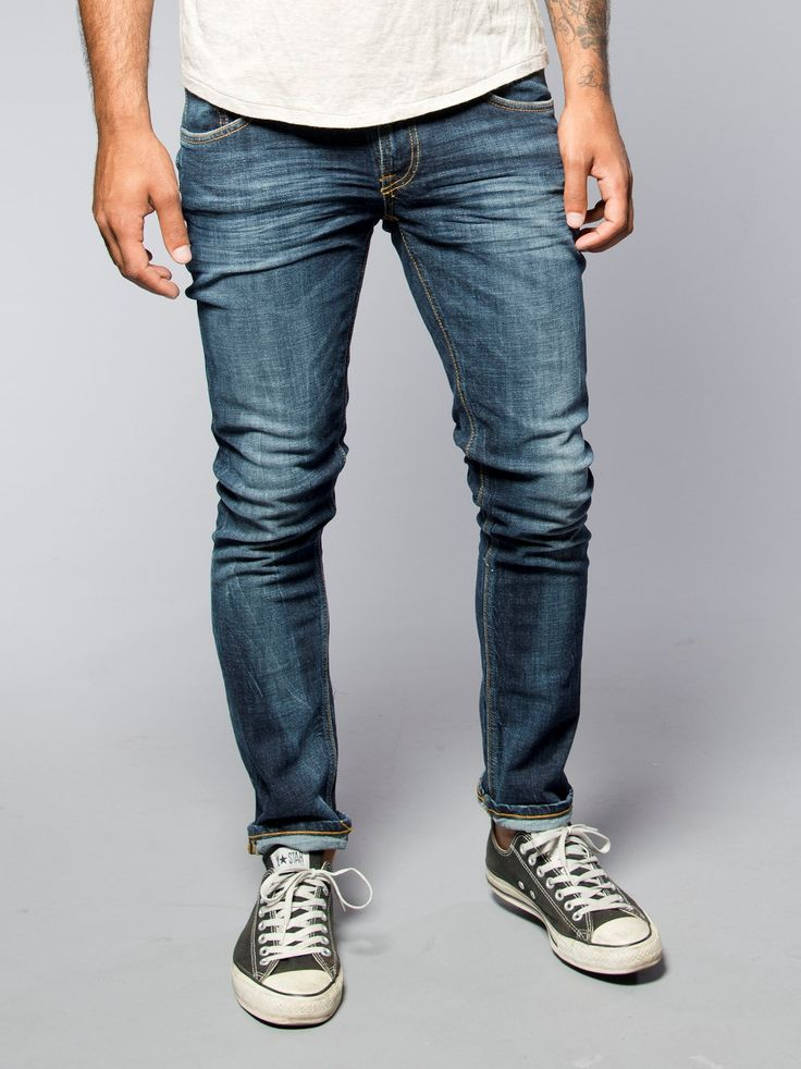Tight Long John, Organic Calm Blues - Nudie Jeans Company