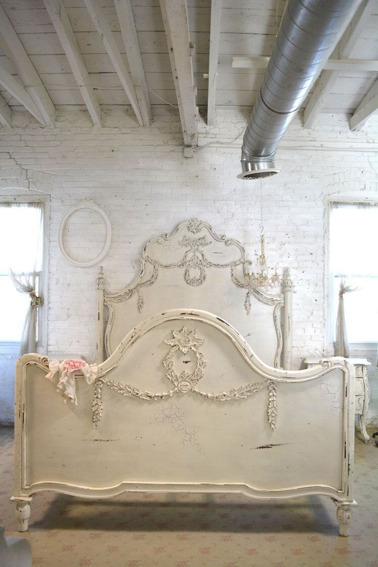 Painted Cottage Shabby Chic French Romantic Queen / King Bed by paintedcottages on Etsy https://www.etsy.com/listing/264551719/painted-cottage-shabby-chic-french