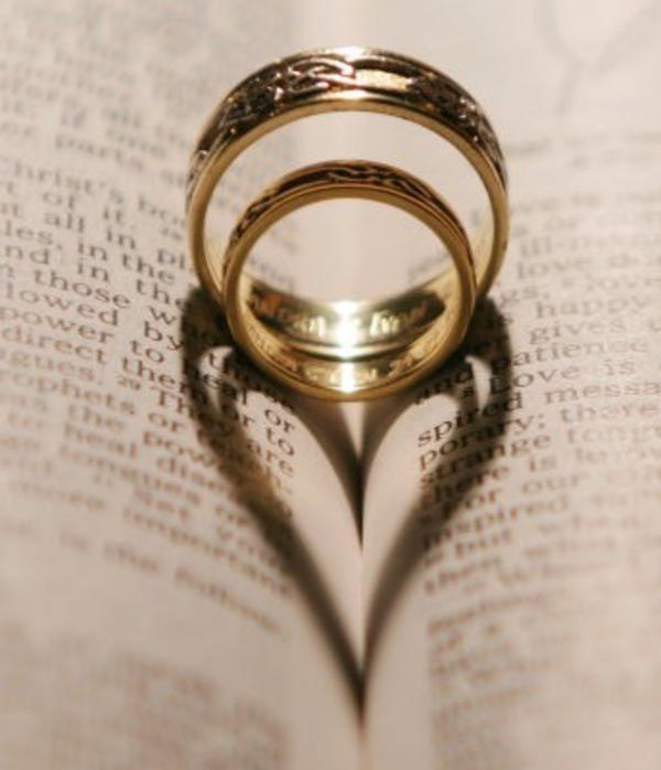 aliança casamento coração