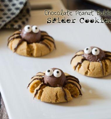Chocholate peanut butter spider cookies // Csoki golyó pókos aranyos Halloween sütemények //  Mindy -  creative craft ideas //  #halloween #crafts #craftideas #kreatívötletek #diy #csináldmagad #halloweencrafts #halloweenparty #partyideas
