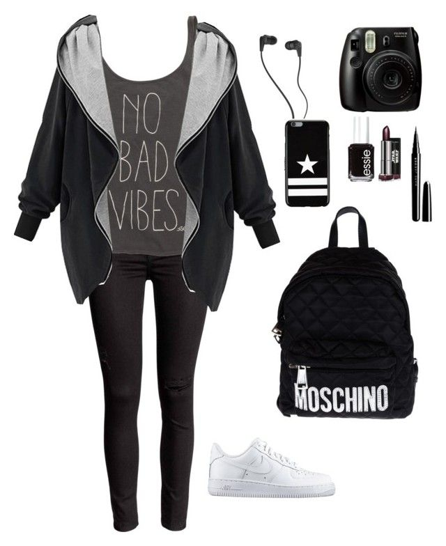 """""""Fantastic ✨"""" by prosvetovajane ❤ liked on Polyvore featuring Billabong, NIKE, Moschino, Skullcandy, Givenchy, Essie and Marc Jacobs"""