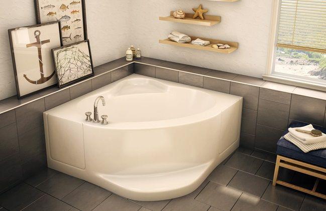Aker Ct 5454 Corner Bathtub Symmetrical Backrests Deck