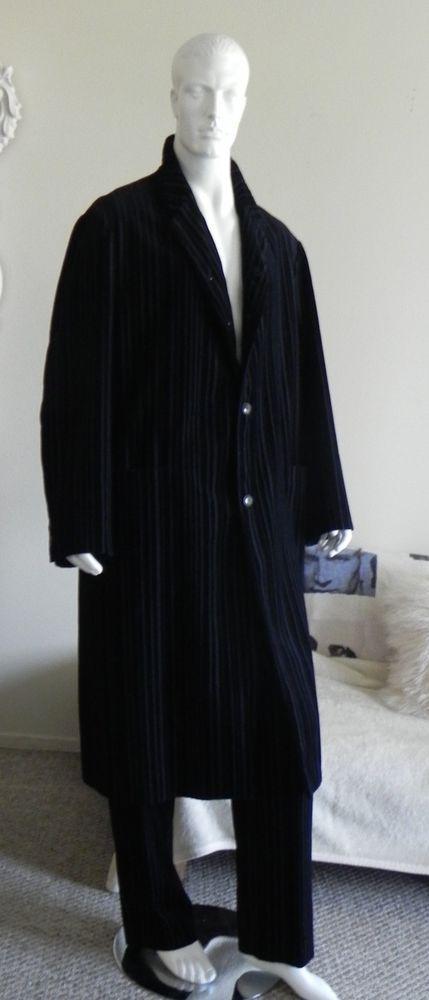 VTG YOHJI YAMAMOTO BLACK COTTON CORDUROY VELVET SUIT COAT PANT HOWARD HESSEMAN #YOHJIYAMAMOTO #COAT