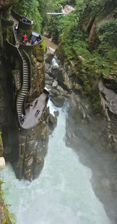 Canyon Steps, Pabeilon del Diablo - Ecuador - Explore the World with Travel Nerd Nici, one Country at a Time. http://TravelNerdNici.com