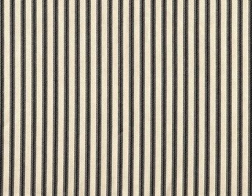 """15"""" Queen Bedskirt Gathered Black Ticking Stripe - traditional - Bedskirts - Close to Custom Linens"""