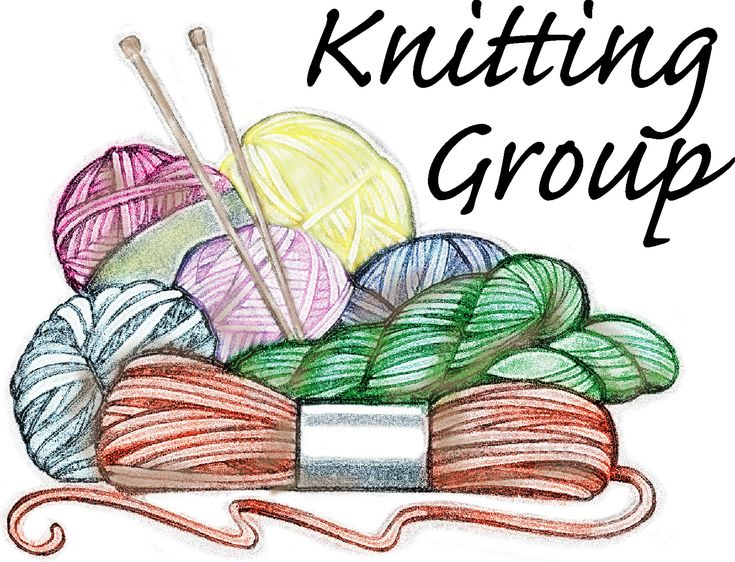 Knitting Cartoons Pictures : Clip art women knitting or crocheting the