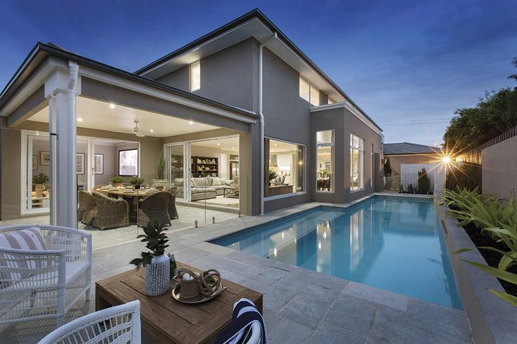 Expansive outdoor alfresco living on the Brookwater with Classic Hamptons World of Style.