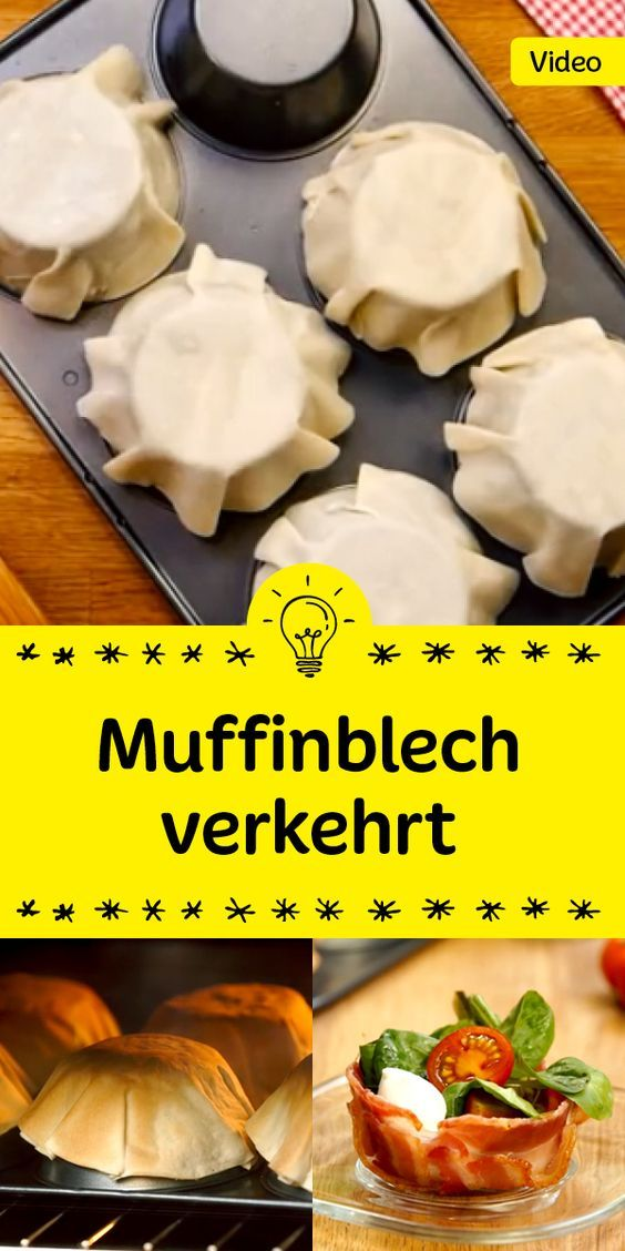 Party Food mit Muffinsblech verkehrt rum - um tolle Füllungen reinzumachen *** Great upside down Muffin Pan Recipe