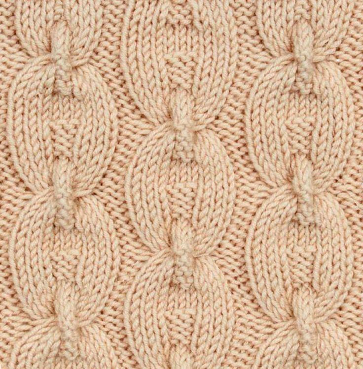 Диагональный узор спицами косы 194