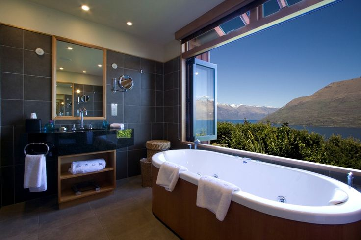 Azur Queenstown, NZVillas Bathroom, Hotels Bathroom, Luxury Villa, Dreams Bathroom, Places I D, Travel, Luxury Hotels, Queenstown New Zealand, Azure Lodges