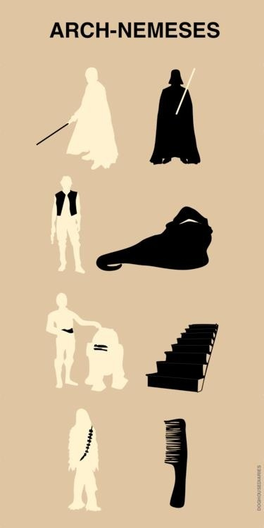 Enemigos: Chewbacca, Enemies, Funny Stars War, Stairs, The Real, Funny Commercial, Poster, Arches Neme, Starwars