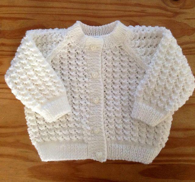 Free Pattern: Lacey baby cardigan by Karena Conran
