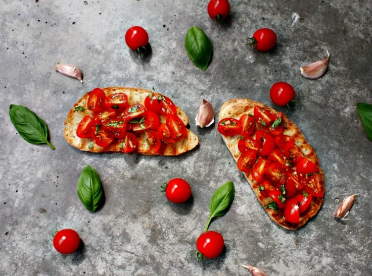 Bruschetta met tomaten   #recipe #recept