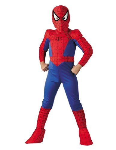 Kids-costume Spiderman Ch Deluxe Comic 7 to 8 Halloween Costume - Child 7-8 @ niftywarehouse.com #NiftyWarehouse #Geek #Horror #Creepy #Scary #Movies