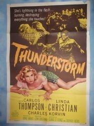 Thunderstorm,Vintage Movie Poster,Carlos Thompson,Linda Christian,'56  £20.00