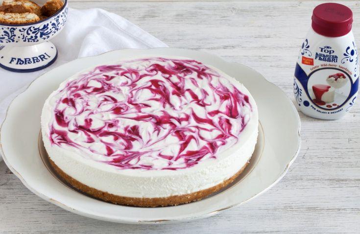 Cheesecake senza cottura marmorizzata ricetta