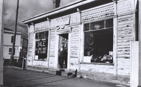 Bootmaker's Shop, corner Watton and Bridge Streets, Werribee.Vic