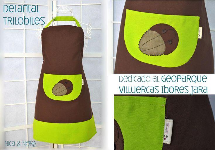 Delantal trilobites dedicado al Geoparque Villuercas Ibores Jara...