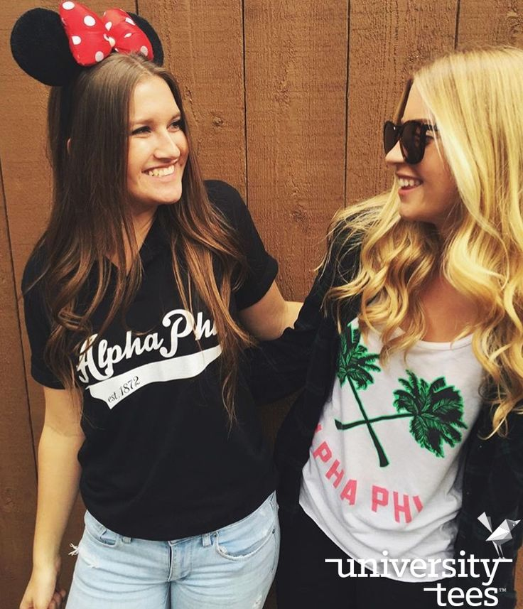 Palm trees and paradise (meaning Disneyland, obv) | Alpha Phi | Made by University Tees | www.universitytees.com