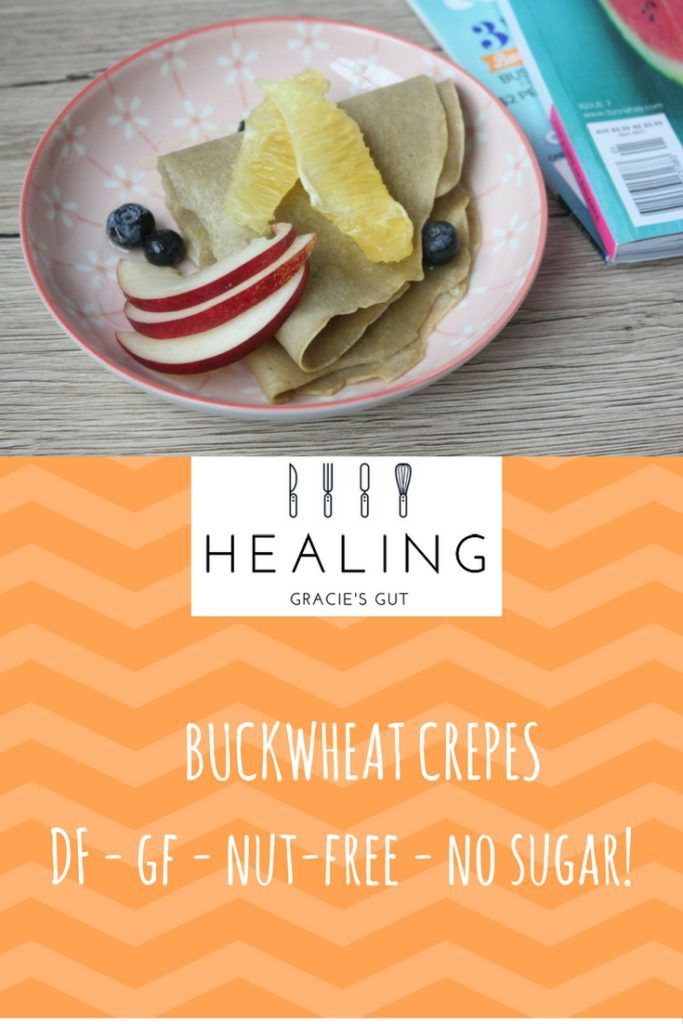 Buckwheat Crepes, gluten, egg, nut and refined sugar free.