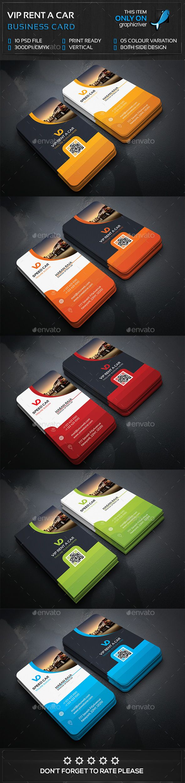 Rent a Car Business Card — Photoshop PSD #taxi #automobile • Available here → https://graphicriver.net/item/rent-a-car-business-card/14853445?ref=pxcr