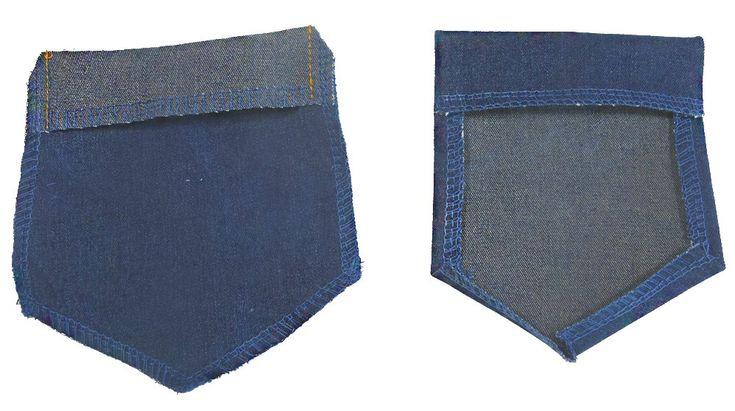 Taschen für eine Jeans  selber nähen