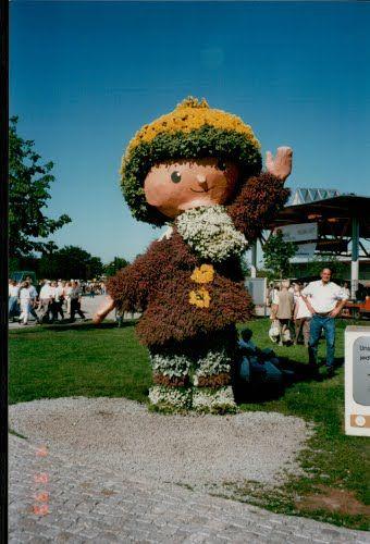 magdeburg rotehorn park   Begrüßung zur * BuGa 1999 * im Elbauenpark in Magdeburg in Sachsen ...