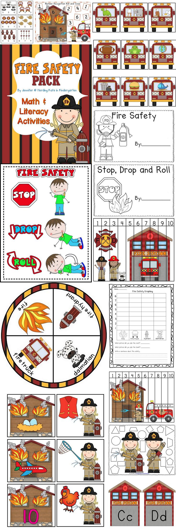 Fire Safety Math & Literacy Pack! This pack has 10 Math Activities and 4 Literacy Activities - including 2 Emergent Readers! Reinforce Fire Safety while still teaching basic skills! This pack is geared towards Pre-K and K students but can serve as RTI for 1st grade! Check out the Preview for a FREEBIE