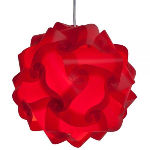 30pcs 30cm Ceiling Diy Iq Jigsaw Puzzle Lamp Shade Lamp Cover Red M Puzzle Lights Red Lamp Shade Ceiling Lamp Shades
