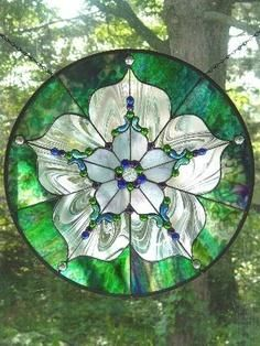 Lady Bug Sunflower Stained Glass <3