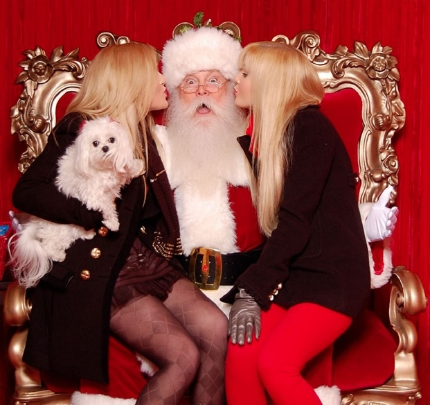 Take a cute picture with Santa.