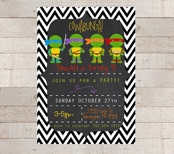 Teenage Mutant Ninja Turtles Birthday Party by myhappylifedesigns, $12.00 for printable copy