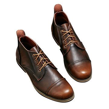 Big Size Men Formal Business Boots Lace Up Pointed Toe Shoes Casual Shoes - US$54.14