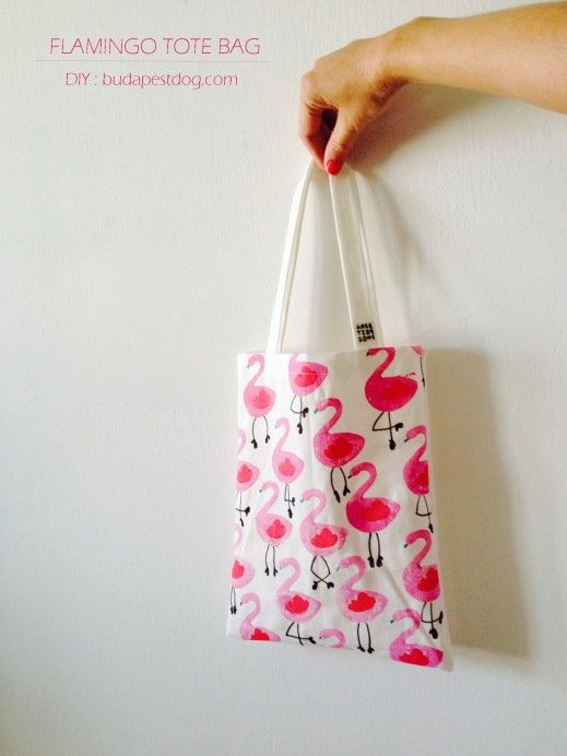 DIY: Flamingo tote bag