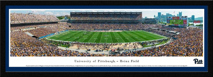 Pittsburgh Panthers Football Panoramic Picture - Heinz Field - Select Frame $149.95