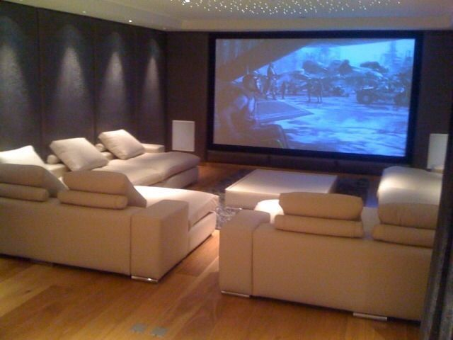 25 best ideas about home cinema room on pinterest for Home theater seating design ideas