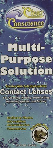 #sale #Clear Conscience Multi-Purpose Contact Lens Solution, 12 Ounce -- 3 per case. Multi-Purpose Contact Lens Solution for Soft (Hydrophilic) Contact Lenses Fi...