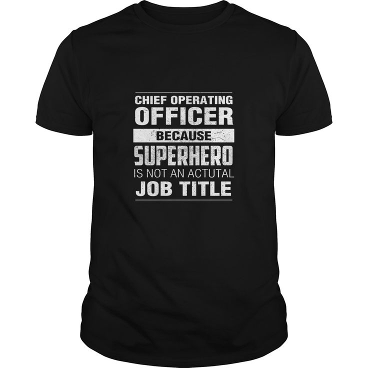 Chief Operating Officer because superhero is not an actual job title