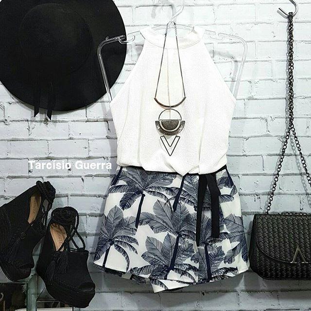 Short saia estampa de 🌴🌴🌴 super estiloso e nós adoramos tudo que tem muito estilo. . . Short saia R$ 59,90  P, M, G. . . muitas novidades por aqui ❤🎀 #estilo #beleza #bomgosto #melhorpreço #aquiéolugar