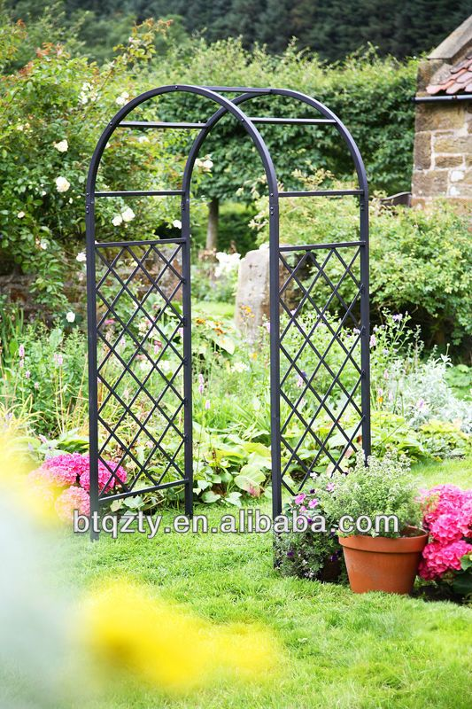 Wrought iron garden arch wrought iron pergola pavilion for Garden archway designs