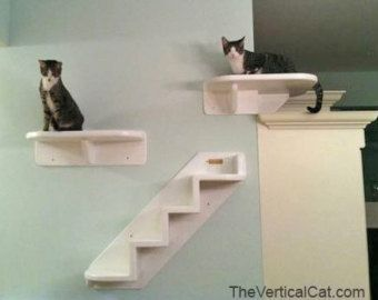6-Step Cat Stair from The Vertical Cat by TheVerticalCat on Etsy