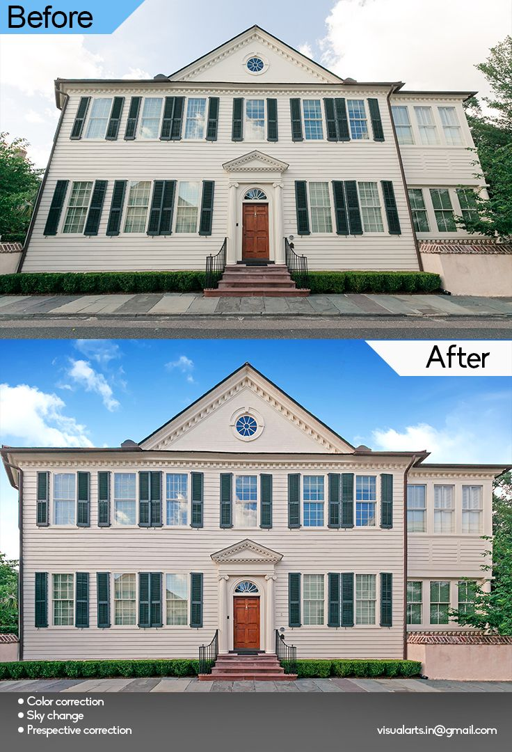Real Estate image editing such as change in sky, better colour correction, perspective alignments etc...