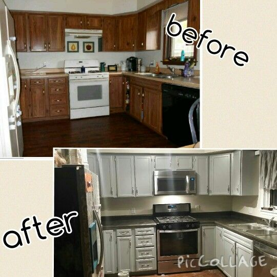 finally redid kitchen love it new appliances microwave resurfaced fridge contact paper how do you remove from cabinets for cabinet doors to pape