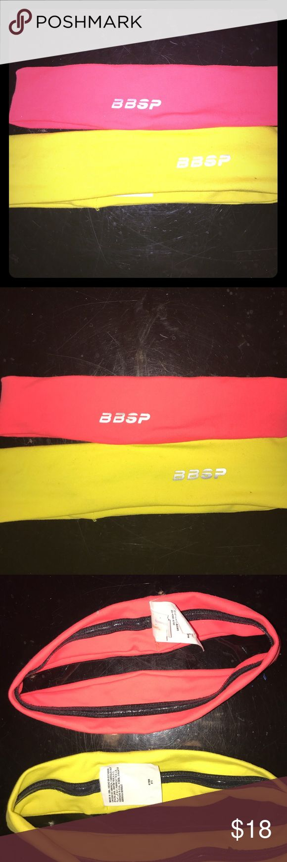Bebe Sport head bands Like new condition yellow and pinkish mango color bebe Accessories Hair Accessories
